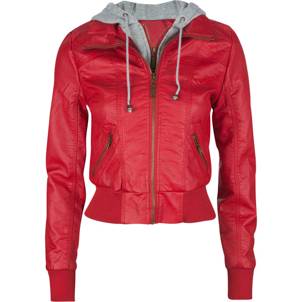 FULL TILT Fleece Hooded Womens Faux Leather Jacket 40  tillys.com