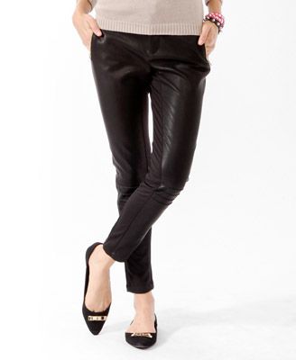 Faux Leather Moto Pants 24.80