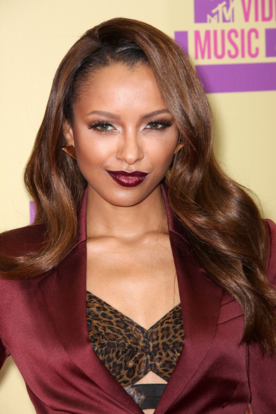 Kat Graham - dark red lip, vamp