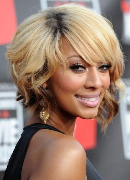 Keri Hilson Blonde curly bob