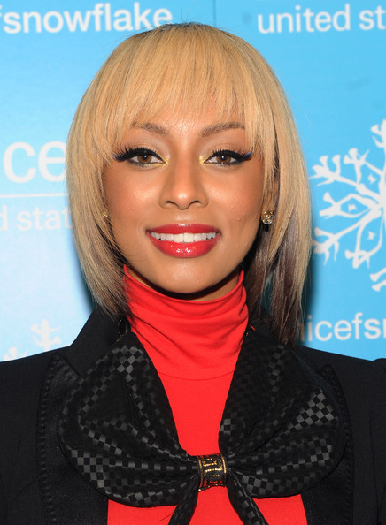 Keri Hilson blonde-brown bob