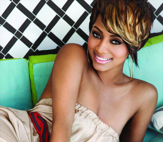 Keri Hilson jagged cut blonde