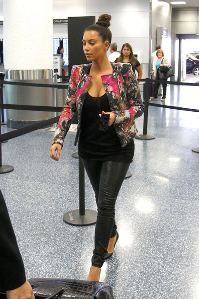 Kim Kardashian in prints