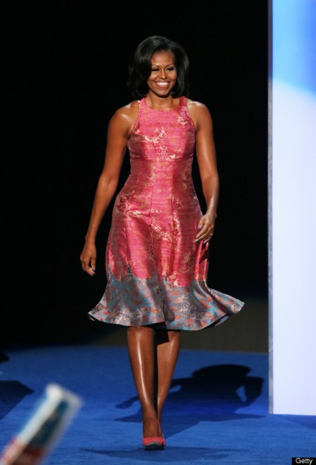 Michelle Obama in Tracy Reese at DNC