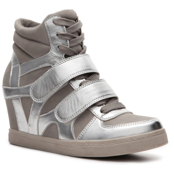 N.Y.L.A. Brander Wedge Sneaker - SilverGrey Metallic $55