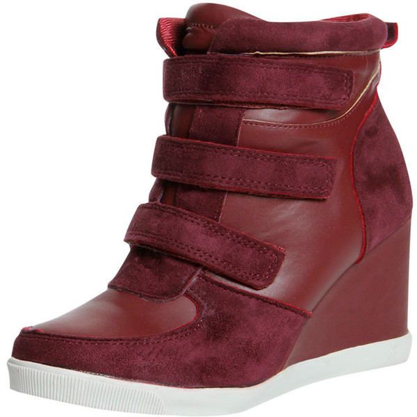 Nicole Wine Wedged Hi Top Trainer $60