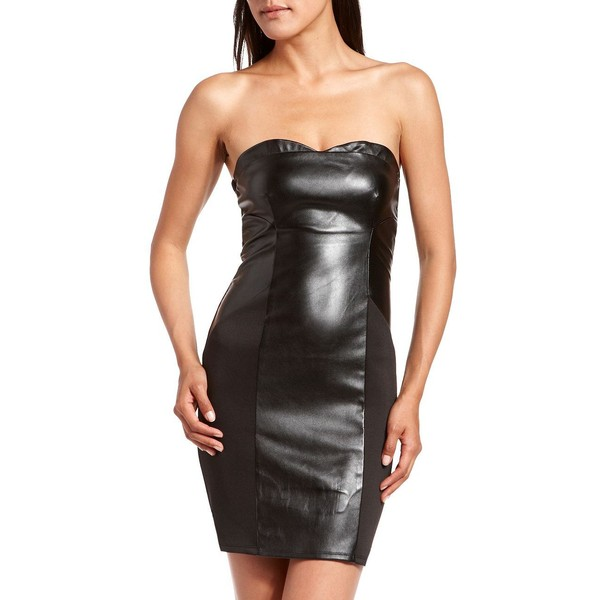 Pleather Inset Body-Con Dress 15 charlotte russe