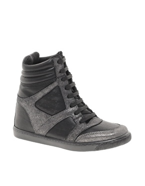 River Island Concealed Wedge High Top Sneakers $68.98