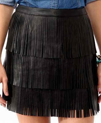 Tiered Fringe Skirt 2280
