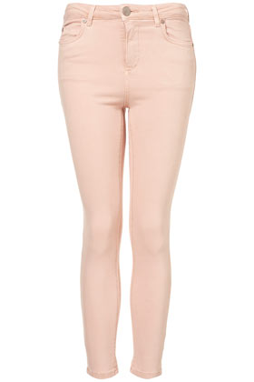 TopShop Moto Pale Pink Jamie Jeans