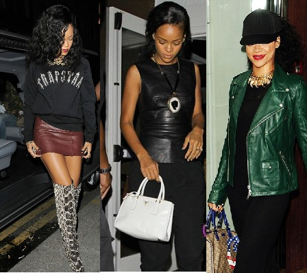 rihanna leather