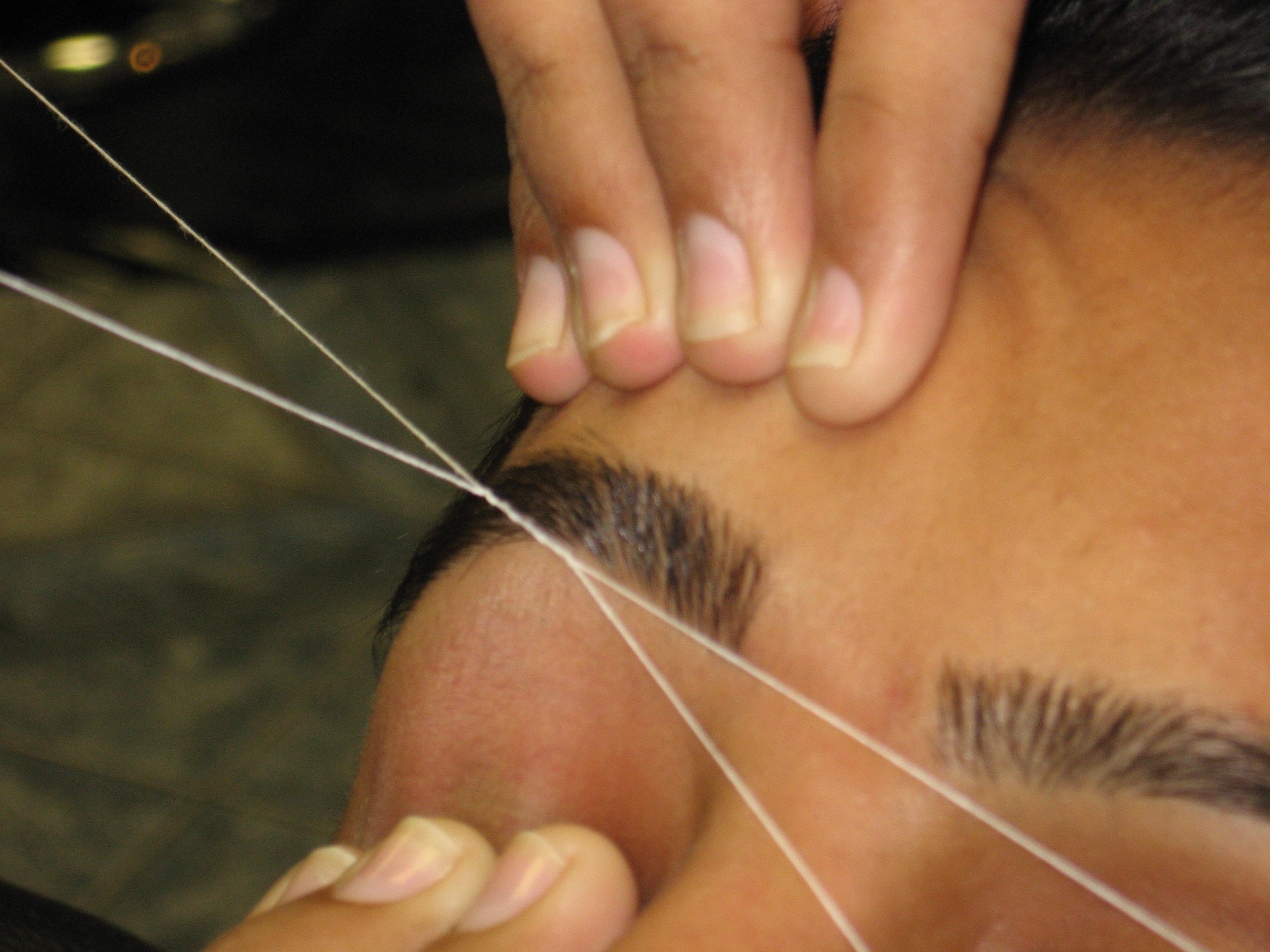 Как сделать эпиляцию ниткой