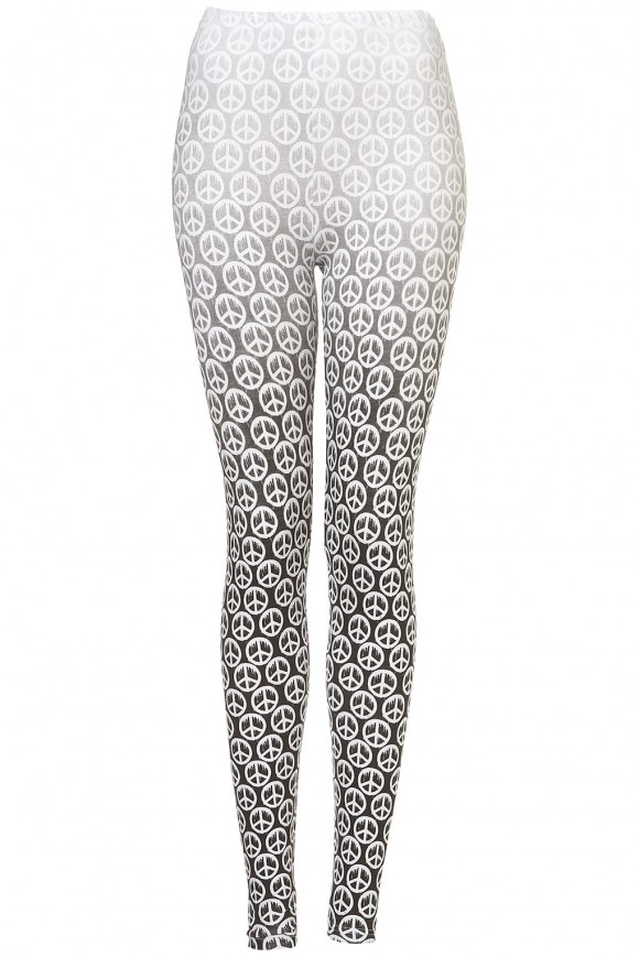 Dipped Peace Leggings for Fall