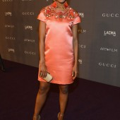 Kerry Washington at LACMA Art + Film Gala in Gucci Resort 2013 Embellished Dress