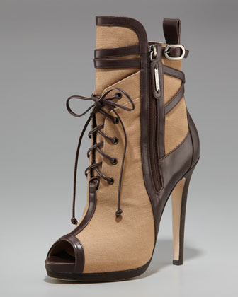 Oscar de la Renta Two Tine High-Heel Bootie $1795