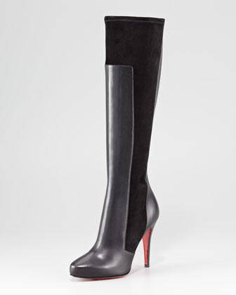 YSA Mixed-Media Tall Red Sole Boot $1495