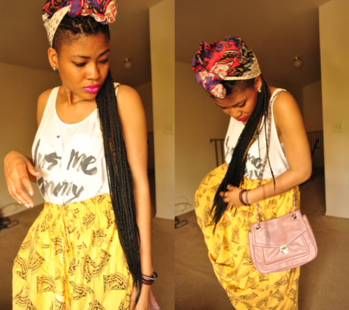 Box Braids with Shaved Sides