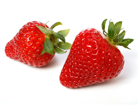 strawberries teeth whitener