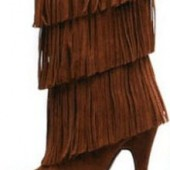 Paris - Brown Fringe Boot $75