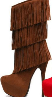 Paris - Brown Fringe Boot 75- GARB