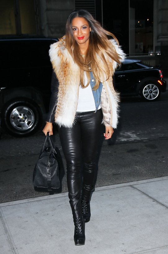 Ciara Rocks Leather At Billboard Luncheon Best Fashion Moments In Leather Talking Pretty