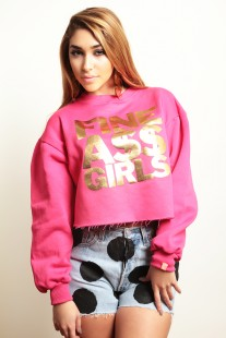 Draya Michele Fine Ass Girls fuchsia-sweatshirt