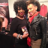 Me with Color U Cosmetics founder/owner Karen Stallings who made me over.