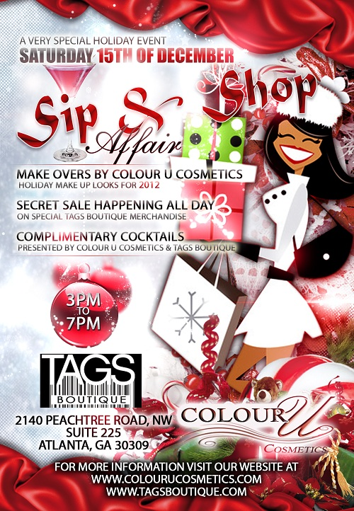 sip and shop affair tags
