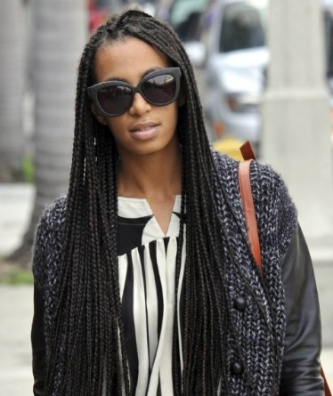 braids twists solange resurrected the box braids and now the whole ...