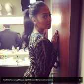 La La Anthony takes one more picture before the night is over