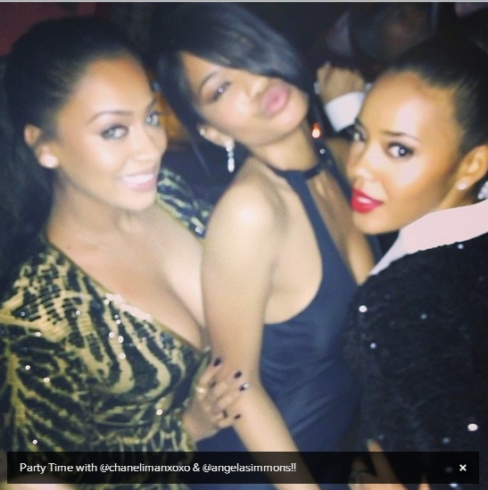 La La, Chanel Iman, and Angela Simmons pose for pics at the 2013 Inaugural Hip Hop Ball