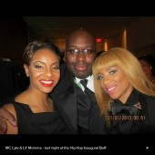 MC Lyte and Lil Mama pose for pictures at the Hip Hop ball