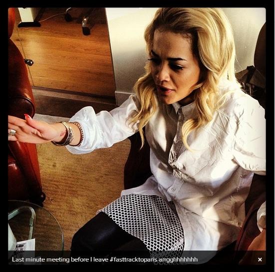 Rita Ora in black and white - Celebrity Instagram