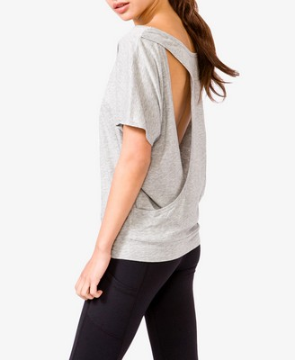 Short Sleeve Cutout Back Tee 14.80