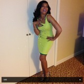 Taraji P. Henson practices her laugh before heading to the Inaugural Hip Hop Ball
