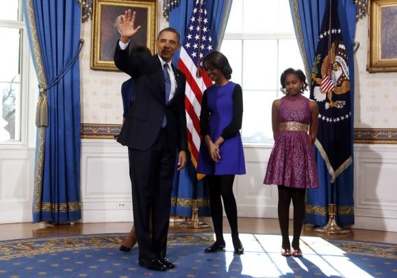 Michelle Obama Inauguration fashion and hair Reed Krakoff