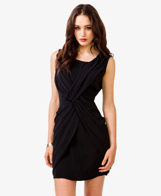 Black - Crisscross Sheath Dress 29.80 - Forever 21