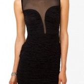 Mesh Back Mattelassé Dress - $19.80 - Forever 21