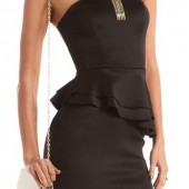 Scuba Peplum Tube Dress - $29.99 - Charlotte Russe