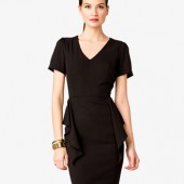 V-Neck Peplum Dress - $27.80 - Forever 21