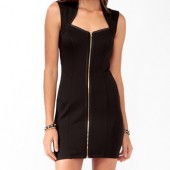 Zippered Front Scuba Dress -  $24.80 - Forever 21