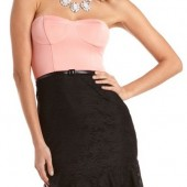 Belted 2-Fer Ruffle Hem Dress - $32.99 - Charlotte Russe