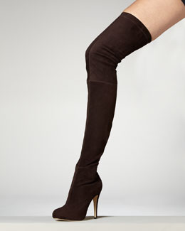 David suede Over-The Knee boot $1312- Neiman Marcus