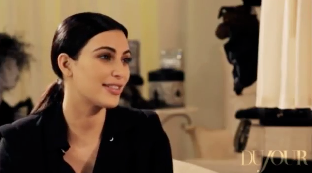 Kim Kardashian behind the scenes du jour