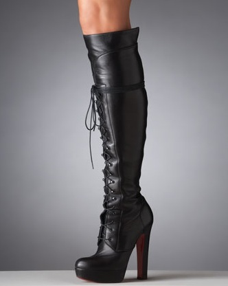 Nardja lace-up platform over-the-knee boot $1895- Neiman Marcus
