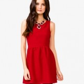 A-Line Mattelassé Dress- $22.80 - Forever 21