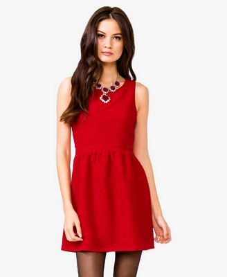 Red- A-Line Mattelassé Dress 22.80 - Forever 21