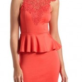 Delicate Lace-Top Peplum Dress - $28.99 - Charlotte Russe