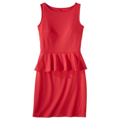 Red - Mossimo® Petites Ponte Peplum Sleeveless Dress 27.99 - Target