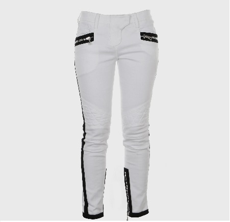 Balmain BLACK AND WHITE CONTRASTING COLOR JEANS 780